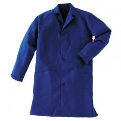 Blouse de travail Bleu 100% coton et fermeture à boutons - Vetiwork