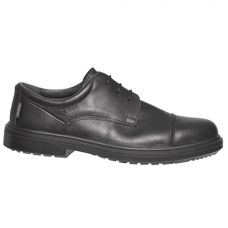chaussure de s curit ville noir cuir fabrication francaise. Black Bedroom Furniture Sets. Home Design Ideas
