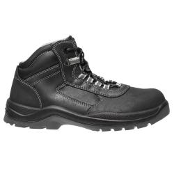 Scarpe di sicurezza di alta top di pelle nero oliato puntale in composito - Sfilata Plaga Standard S3 - Uomo
