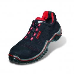 Zapato de seguridad UVEX S1P negro-rojo-ESD, antiestática