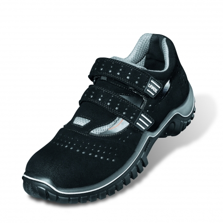 Calzature di sicurezza UVEX Stile di Movimento S1P Sandalo Nero / Grigio