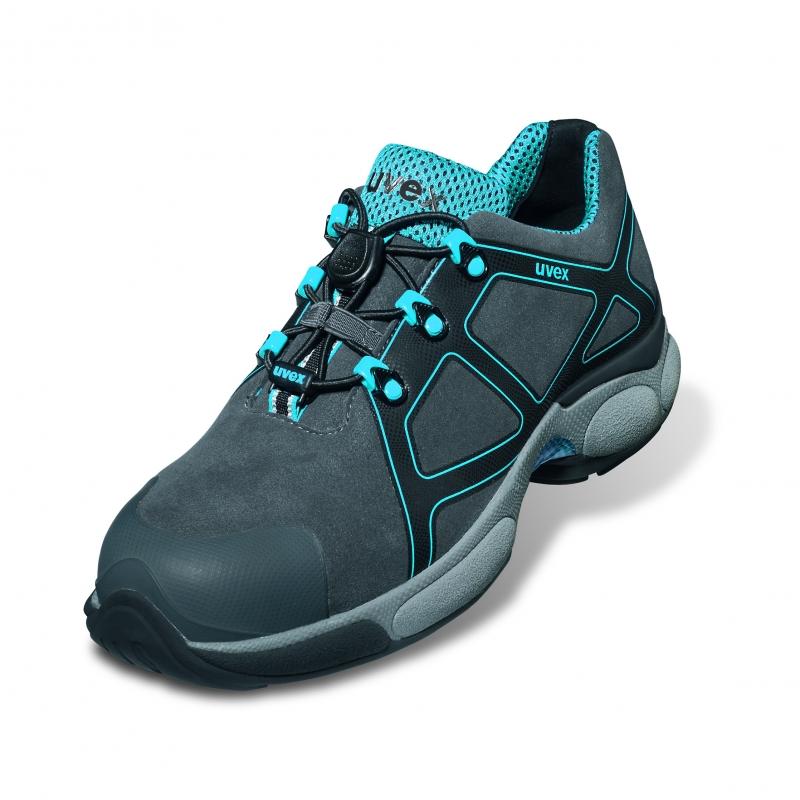 realmente cómodo venta profesional Precio pagable Zapato de seguridad de GORE-TEX UVEX XENOVA ATC S3 Gris / Turquesa