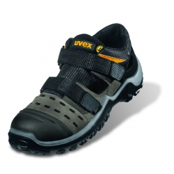 Sicherheitsschuh UVEX 9455 Athletic PRO Sandale S1 ESD Grau