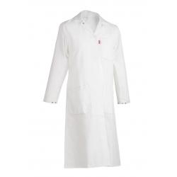 Blusa blanca de Agro-alimentos ML ADOLPHE LAFONT cierre de presión en las piernas Unisex