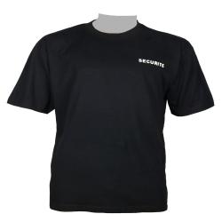 Camiseta negra de algodón de SEGURIDAD
