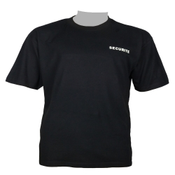 Tee-shirt noir en coton SECURITE