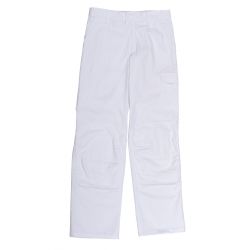 Trousers painter, white adjustable belt and pockets genoulillére