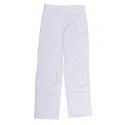 Trousers painter, white adjustable belt and pockets genoulillére