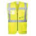 Gilet Haute visibilité Jaune multi-poches avec fermeture éclair