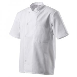 Veste de cuisine blanche manches courtes Robur