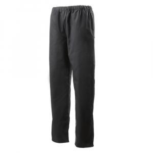 Pantalon de cuisine noir ceinture élastiquée et ourlet réglable par pression Robur