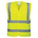 Gilet Haute visibilité jaune avec bandes réfléchissantes
