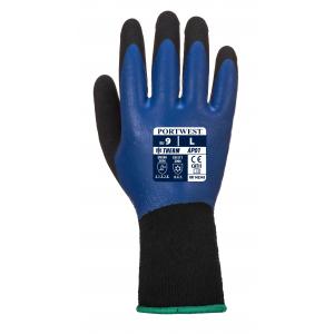 Gant thermique et étanche bleu et noir
