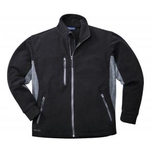 Veste Polaire bicolore noir et gris 400 Gr