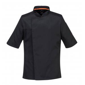 Veste de cuisine Chef noire avec filet respirant