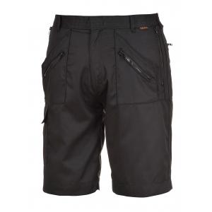 Bermuda de travail noir avec poches zippées