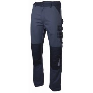Pantalon de travaille SULFATE - Lebeurre - Gris sombre/noir avec poche Genouillère