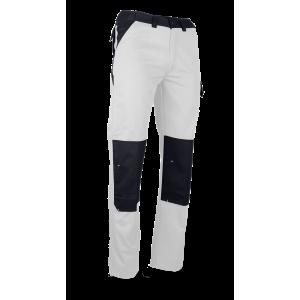 Pantalones de Pintor del dos-tono Blanco/Gris