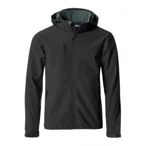 Veste softshell noir imperméable / respirante / coupe-vent
