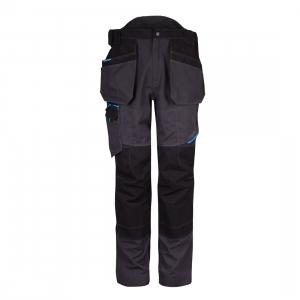 Pantalon de travail multipoche gris / noir - Portwest