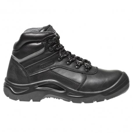 5123636040b9 AVILA s Safety Shoe black leather rising S3 Man chantier btp E-Vetiwork