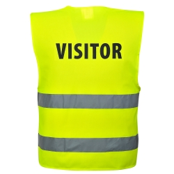 PORTWEST - Vest-shoulder yellow high visibility visitor sleeveless