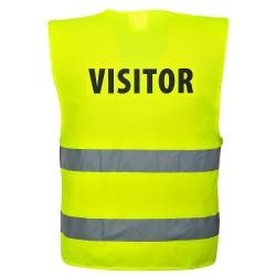 PORTWEST - Chaleco-Arnés de Alta visibilidad Visitante sin mangas