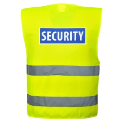 PORTWEST - Vest-harness high visibility yellow safety sleeveless