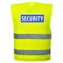 Vest high visibility yellow security Harness and a High Visibility Yellow Safety
