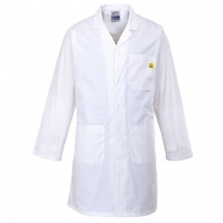 PORTWEST - Coat anti-Static ESD long sleeves