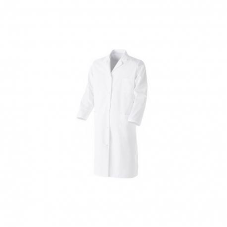 blusa blanca de algodón cierre de presiones