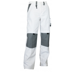 Hosen Maler Zweifarbig Weiß/Grau