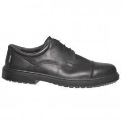 Schuh-sicherheits-mann-schwarz-typ-stadt