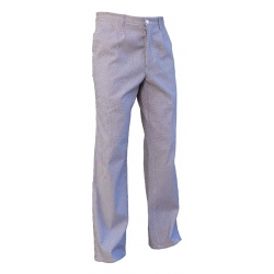 Hose-kochen-baumwolle hahnentritt blau und weiß - PBV